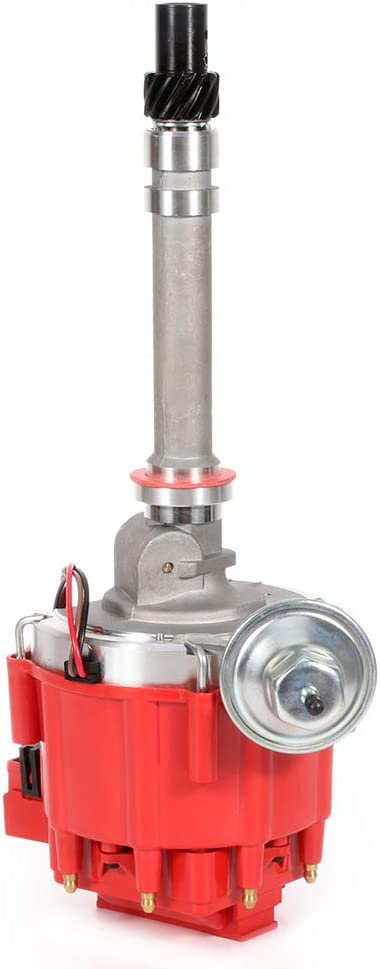 ECCPP Ignition Distributor New Free Shipping with Year-end gift Red Cap 454 Co Chevy350 Fits for