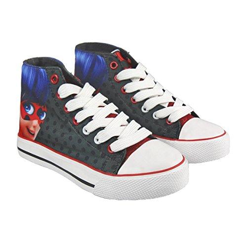 Ladybug 2300002948 Zapatilla Alta de Loneta, Rojo, Negro, 29 EU para Niñas