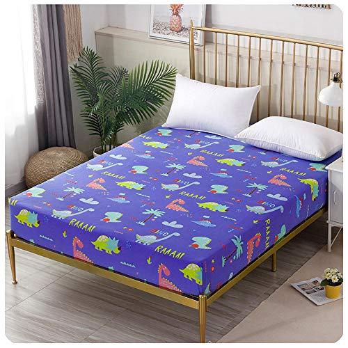CYYyang Protector de colchón de Rizo algodón y Transpirable Hoja de Cama de Dibujos Animados Paquete Completo de una pieza-28_100 * 200 + 15