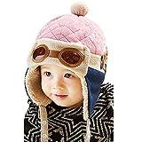 GJKK Mütze Baby Unisex Jungen Mädchen Wintermütze warme Kappen Hüte Beanie-Mütze Pilot häkeln Earflap Hüte Kinder Cap Schalmütze Kindermütze