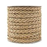 Tenn Well 麻縄, 11mm 太い編み麻紐 キャットタワーの補修 園芸 梱包 手作り 猫爪とぎ修理などに (茶色)