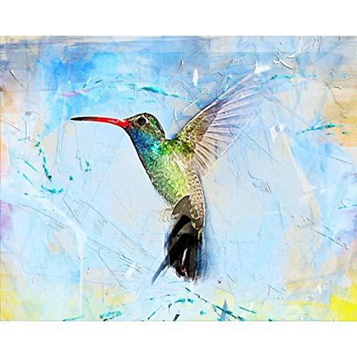 DIY 5D Diamante Pintura Completo Kits Pinturas por Numeros, Bordado Punto de Cruz Manualidades Pájaro animal congelado Art para Decoración de Pared del Hogar Regalos para adultos y niños 30 * 40cm