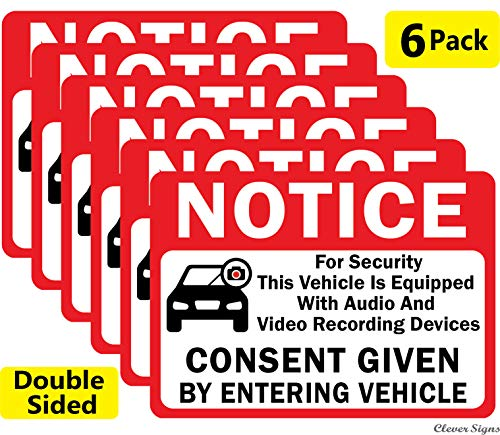 CLEVER SIGNS 6-Pack Notice Vehic...