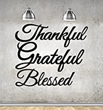 Thankful - Grateful - Blessed Wall Art. Set of 3 Metal Steel Signs Great Gifts!