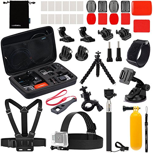 Luxebell Accessories Kit for AKASO EK5000 EK7000 4K WiFi Action Camera Gopro Hero 8 7 6 5/Session 5/Hero 4/3+/3/2/1 … (22-in-1)
