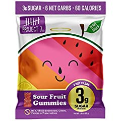 LOW SUGAR SOUR GUMMY BEARS: No guilt here! Feel good about the candy you eat with only 3 grams of sugar per bag and no sugar alcohols, inulin or IMOs. A perfect low carb candy snack for the entire family. HEALTHY GUMMIES: With only 6g net carbs per b...