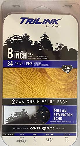 TriLink 8 inch Saw Chain: 2 Chain Value Pack