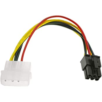 Power Converter Adapter Connector Cable  S 6 Pin 4 Pin to PCI-E Dual Molex