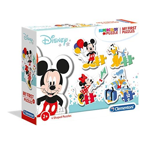 Clementoni - 20819 - My First Puzzle - Disney Mickey Mouse - 3-6-9-12 Pezzi - Made In Italy - Puzzle Bambini 2 Anni +