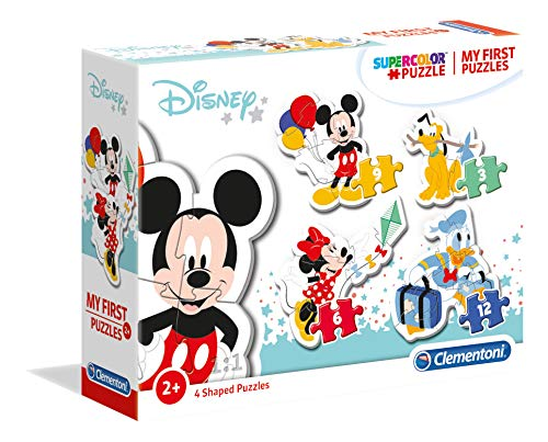 Clementoni- My First Puzzle 3,6,9,12 Piezas Mickey Mouse, Multicolor (20819.7)