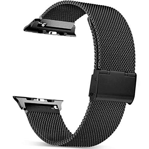 Mugust Metallo Cinturino Compatibile con Apple Watch Cinturino 38mm 40mm 42mm 44mm , Magnetico Cinturini di Ricambio Traspirante in Acciaio Inossidabile per iWatch Series 5 4 3 2 1
