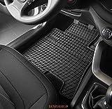 Alfombra de suelo de Goma 3Serie 2piezas Seat Alhambra II,  esteras traseras  (2010-...) Volkswagen Sharan II (2010...)