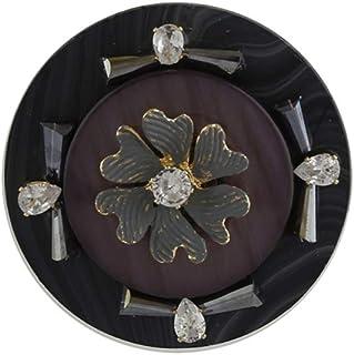 Anuradha Art Jewellery Purple Colour Round Shape Trendy Traditional Saree Pin For Stylish Women