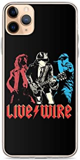 Fastei Compatible with iPhone 11 Case ACDCS Live Wire Geek N Rocks Digital Art Wallpaper Australian Rocks Band Pure Clear ...