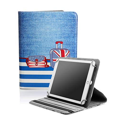 BEISK Funda Universal para Tablet de 10.1 Pulgadas, con Sistema Giratorio de 360º, Rotación, Protección, con Soporte, para Huawei Mediapad/Samsung Galaxy Tab/iPad/Lenovo TAB4 10, Etc. Maletas…