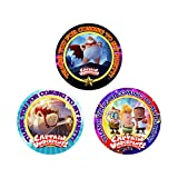 12 Captain Underpants Movie Party Favor Stickers (Bags Not Included) #1