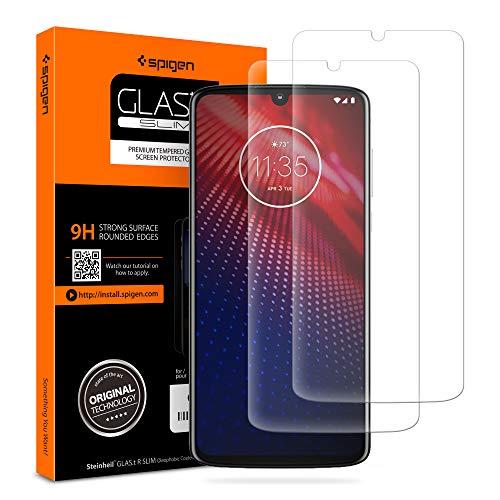 Spigen Protetor de tela de vidro temperado projetado para Motorola Moto Z4 (2019)