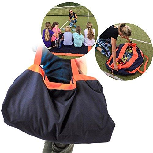Picknickdecke und Reisetasche Transformation in 5 Sekunden, Doppelseitig Wasserdicht, Super klein nach dem Falten, Grosse Kapazität, Waschmaschinenfest, Multifunktions-Aufbewahrungstasche (Grün)