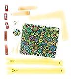 Stoff-Näh-Set (Material) dunkelgrün mit Designerstoff von