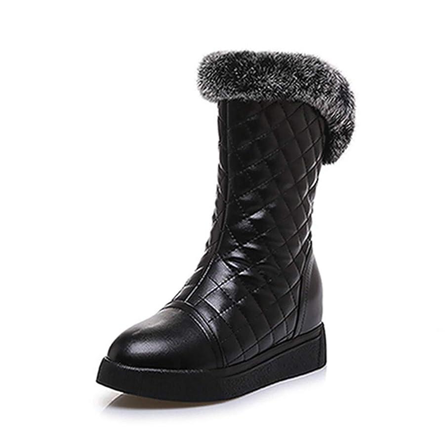 気分合法豊かにする[QIAGE] スノーブーツ レディース ムートンブーツ 裏起毛 雪靴 防寒 防滑 冬用ブーツ アウトドア 防寒対策 厚手 ふわふわ 履きやすい 楽ちん あたたかい サイドジップブーツ 歩きやすい ショートウィンターブーツ 防水