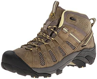 KEEN Women's Voyageur Mid Hiking Boot, Brindle/Custard, 6 B - Medium