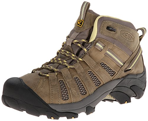 KEEN Women's Voyageur Mid Hiking Boot, Brindle/Custard, 9 B - Medium
