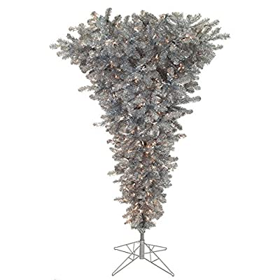 Vickerman 55' Unlit Silver Upside Down Artificial Christmas Tree