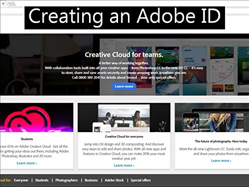 Creating an Adobe ID