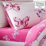 Catherine Lansfield, biancheria da letto con farfalla, Multicolore, 90 x 25 x 190
