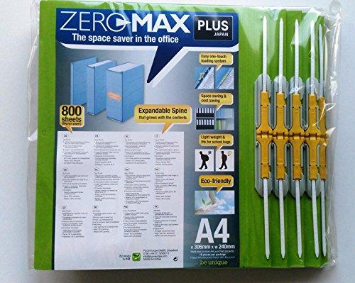 10 x ZeroMax Archivordner GRÜN A4 überbreit PLUS JAPAN