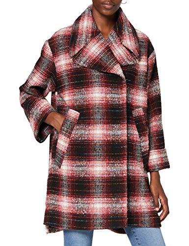 REPLAY W7645A.000.52320 Abrigo de mezcla de lana, 10 negro/rojo/blanco, S para Mujer