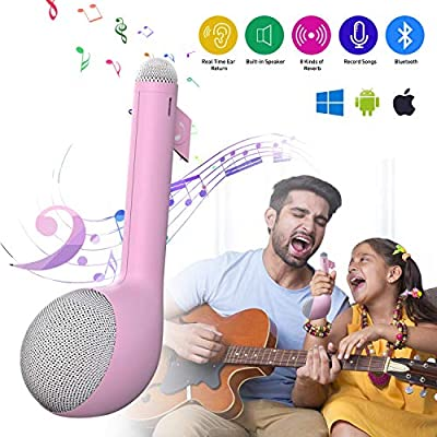 MeloAudio Wireless Bluetooth Karaoke Machine with Speaker, All-in-One Karaoke System Portable Handheld Singing Mic Voice Changer Home Party Birthday Gift for iPhone/Android/iPad/PC (Blue)