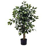 Nearly Natural 3' Ficus Silk Tree, Green