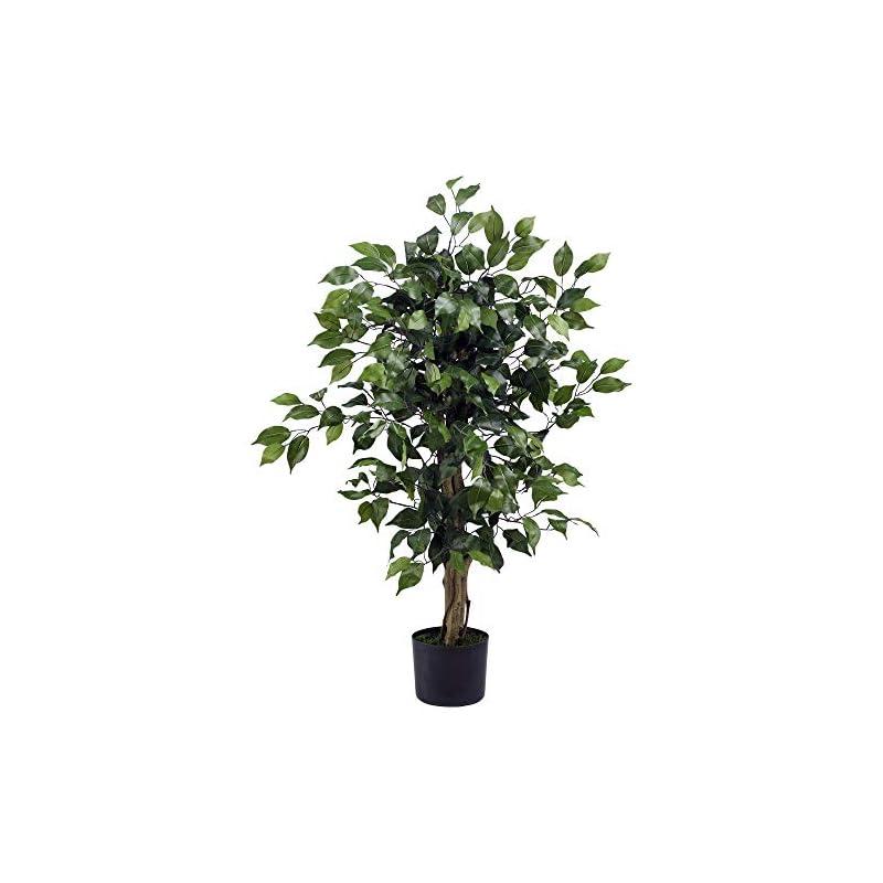 silk flower arrangements nearly natural 3' ficus silk artificial trees, 36in, green