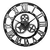 YANYAN Ring Store Orologio da Parete Ingranaggi industriali Decorativi retrò MDL.Orologio da Parete Industrial Age Style della Stanza Decorazione della Stanza Art Decor (Color : Silver)