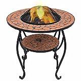 VIENDADPOW Kamine Feuerschale Mosaik Terrakotta 68 cm Keramik