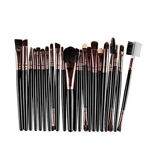 20 Stück Make-Up Pinsel Kosmetik Blush Lidschatten Pinsel Augenbraue Pinsel Lippenpinsel Gesichtspinsel Pinselset