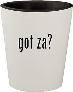 got za? - White Outer & Black Inner Ceramic 1.5oz Shot Glass