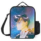 Sailor Moon- Bolsa de almuerzo portátil con aislamiento y almacenamiento en frío, gran capacidad, ideal para la escuela, el trabajo y la comida campestre