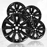 Upgrade Your Auto 17' Gloss Black Wheel Skins (Set of 4) for Chevy Malibu LT 2019-2020 - 5894