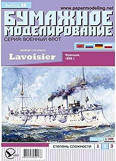 OREL Paper Model KIT Military Fleet Cruiser Class III LAVOISIER France 1898 Ship Vessel Boat Craft Sailboat 1/200 36