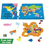 Imagimake: Mapology World with Flags & Capitals- with Country Shaped Pieces- Jigsaw Puzzle