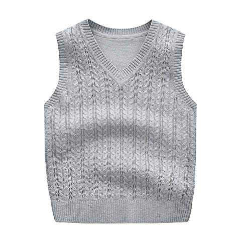 Baby Girl Boys Sweater Girls Cotton Cartoon Sleeveless Vests Kids Knitted Vests Sweaters As Photo4 7T