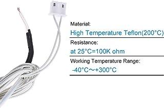 Aibecy 100K Ohm 3D Drucker Thermische Widerstand Thermistor Sensor mit 1.1 m Kabel f/ür RepRap Prusa i3 3D Printer Kit Ersatzteile