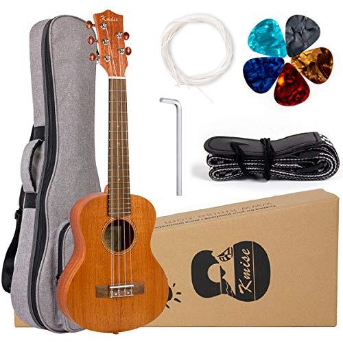 5 String Ukulele Professional Mahogany Ukelele Tenor Uke Kit with Extra Strings Strap Gig Bag Picks