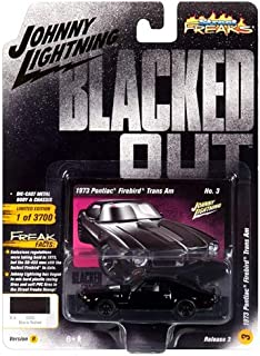 1973 Pontiac Firebird Trans Am Gloss Black with Dark Silver Stripe Blacked Out Limited Edition to 3,700 Pieces Worldwide 1/64 Diecast Model Car by Johnny Lightning JLSF009/ JLCP7121