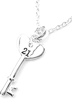 Best 21st birthday key pendant jewellery Reviews