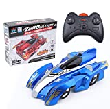 SITAILI RC Anti Gravity Wall Climbing Car Rechargeable Remote Control Racing 360 Rotating Stunt Car Electric Toys (Blue)