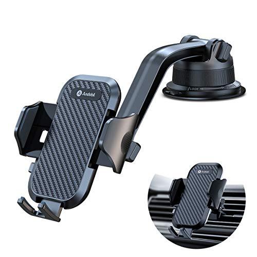 andobil Handyhalterung Auto Saugnapf, Upgraded Ultra-Stable handyhalter Auto 3 in 1 Smartphone kfz Halterung Auto Kompatibel für iPhone SE/11/11Pro/8/7 Samsung Note 20/10/S20/S10 Oneplus Xiaomi usw.