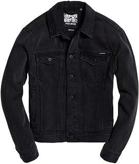 Superdry Men's Highwayman Trucker Jacket, Black